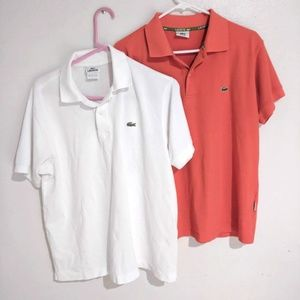 Lot of 2 Lacoste Mens Polo Shirts small